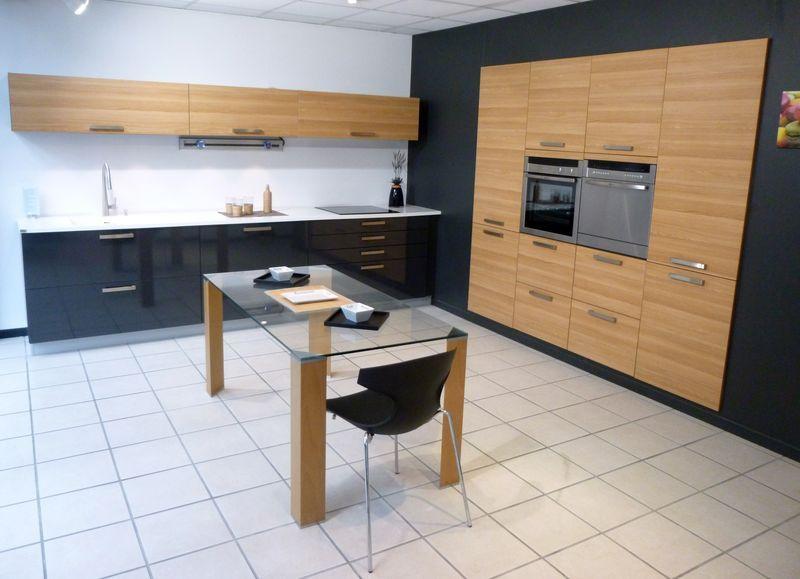 Modele Cuisine Noir Et Blanc. Cuisine Bois Et Noir Lovely Modele ...