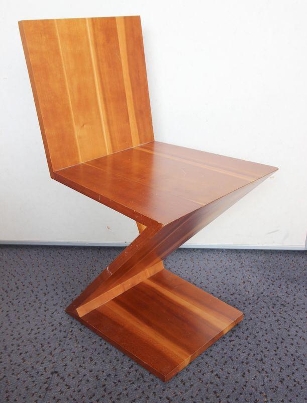 Rietveld Gerrit Thomas 1888 1964 Chaise Modele Zig Zag En Cerisier