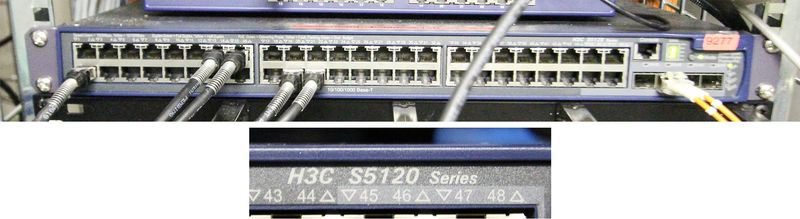 SWITCH 48 PORTS DE MARQUE HP MODELE H3C S5120 SERIES.