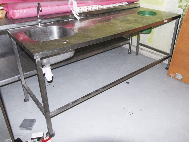 Table De Travail Rectangulaire En Inox Alimentaire Avec 1