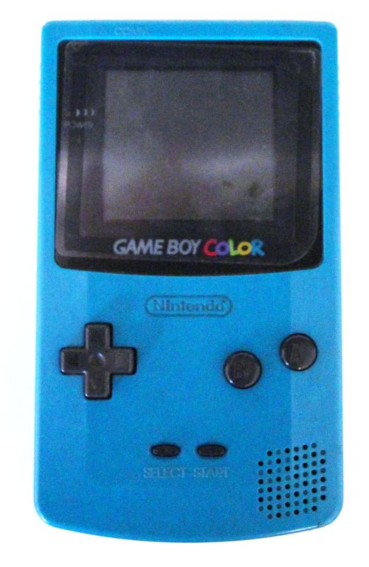 NINTENDO. GAME BOY COLOR. MODELE CGB-001. COLORI BLEU CANARD. RECONDITIONNEE. EN L'ETAT. 1 UNITE.