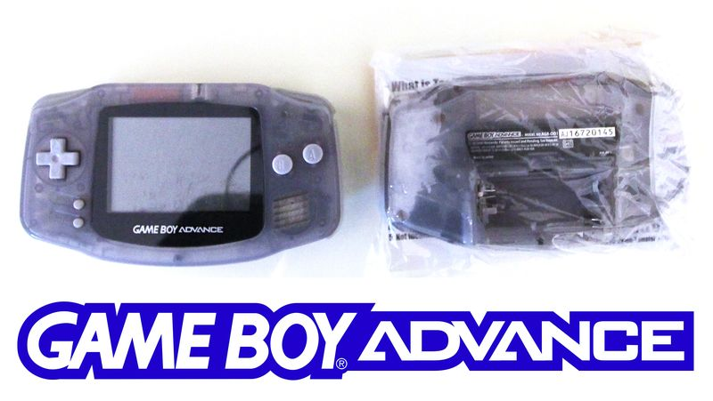 LOT 214. 2 UNITES. NINTENDO. GAME BOY ADVANCE MODELE AGB-001. COLORI GRIS TRANSPARENT. RECONDITIONNE. EN L'ETAT. MANQUE.